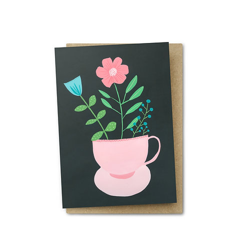 Tea Cup Card $6