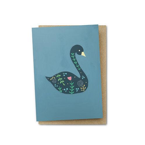 Swan Card $6