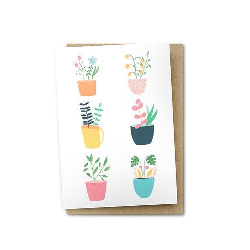 Pot Plants Card $6