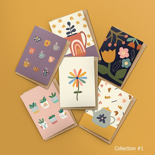 6 Card Set – Choose Your Own Designs $25