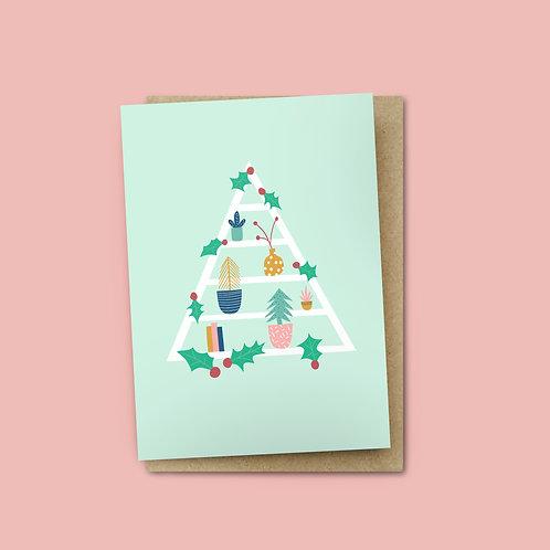 Shelfie Christmas Card $6