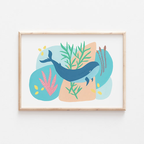 Playful Whale Print