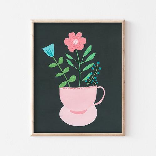 Tea Pot Plant Print
