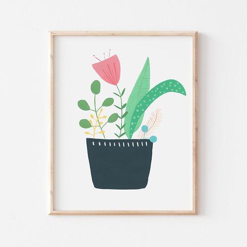 Pot Plant Print