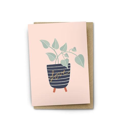 Heart Shaped Leaf Card $6