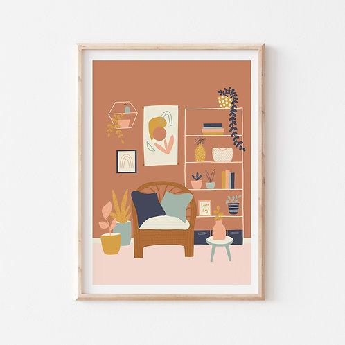 The Living Room Print