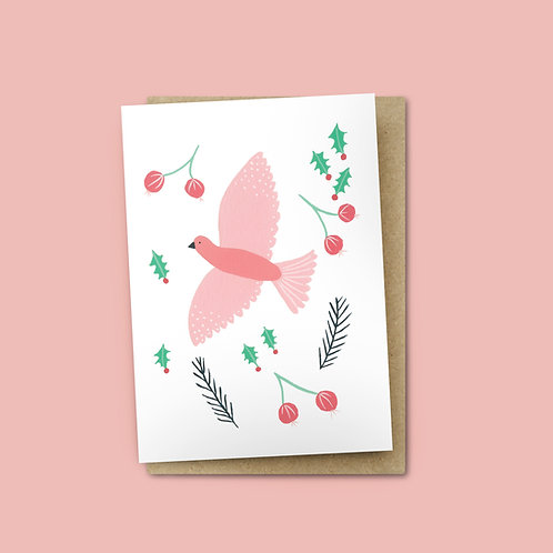 Pink Dove Card $6