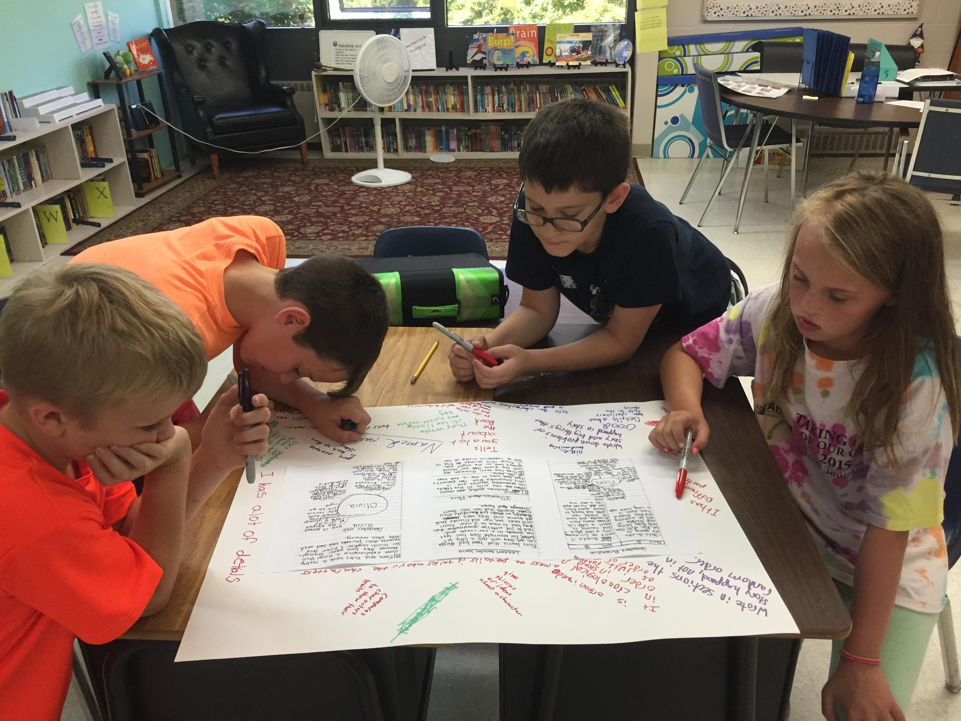 Analyzing writing passages