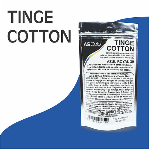 Tinge Cotton Azul Royal 30 - 120g