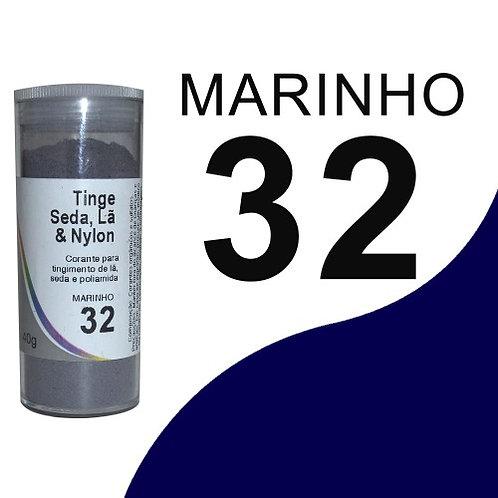 Tinge Seda, Lã E Nylon Marinho Escuro 32- 40g