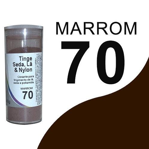 Tinge Seda, Lã E Nylon Marrom 70 - 40g