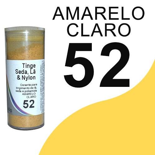 Tinge Seda, Lã E Nylon Amarelo Claro 52 - 40g