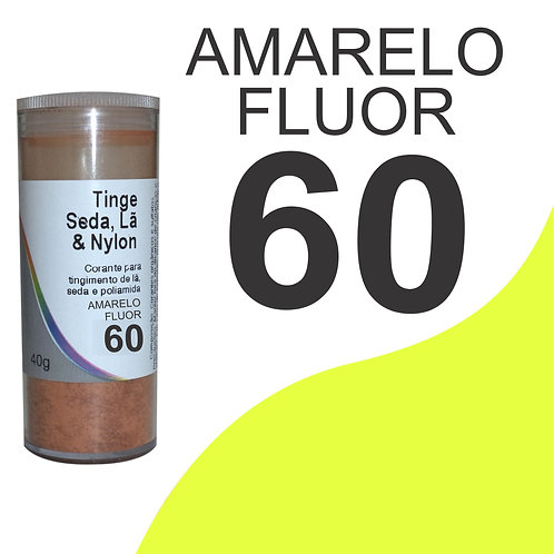 Tinge Seda, Lã E Nylon Amarelo Fluor 60 - 40g