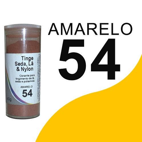 Tinge Seda, Lã E Nylon Amarelo 54 - 40g