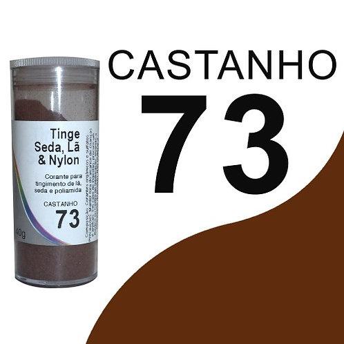 Tinge Seda, Lã E Nylon Castanho 73 - 40g