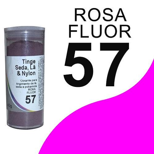 Tinge Seda, Lã E Nylon Rosa Fluor 57 - 40g