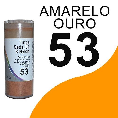 Tinge Seda, Lã E Nylon Amarelo Ouro 53 - 40g