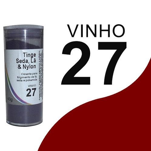 Tinge Seda, Lã E Nylon Vinho 27 - 40g