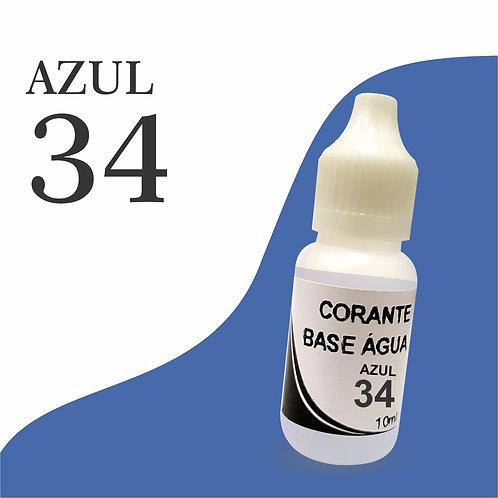 Corante Base Água - Azul 34
