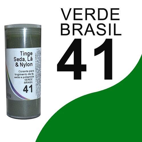 Tinge Seda, Lã E Nylon Verde Brasil 41 - 40g