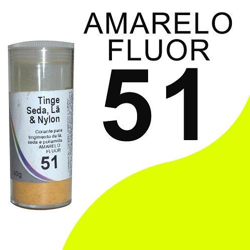 Tinge Seda, Lã E Nylon Amarelo Fluor 51 - 40g