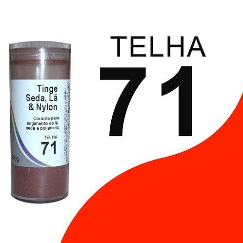 Tinge Seda, Lã E Nylon Telha 71 - 40g