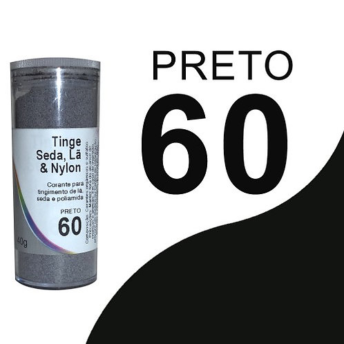 Tinge Seda, Lã E Nylon Preto 60 - 40g