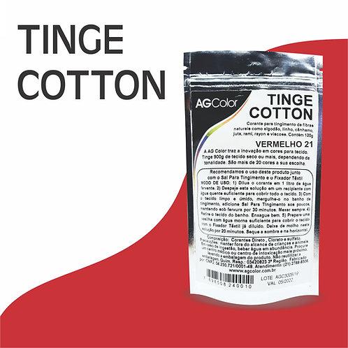 Tinge Cotton Vermelho 21 - 120g