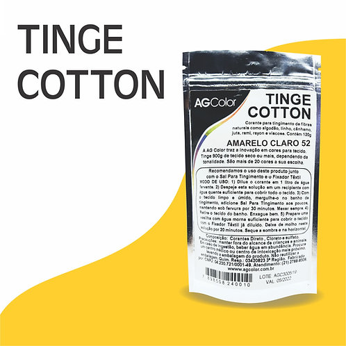 Tinge Cotton Amarelo Claro 52 - 120g