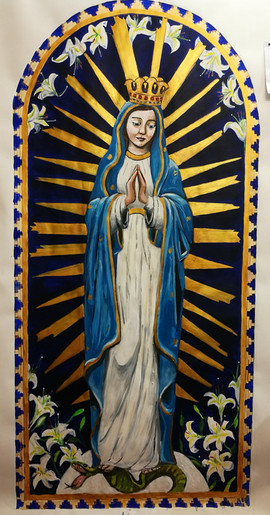 Our Lady Crowned - preparatory painting