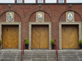 Mosaic Triptych -St Catherine Labouré Church Glasgow