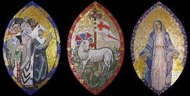 Mosaic Triptych for St Catherine Labouré Church, Glasgow