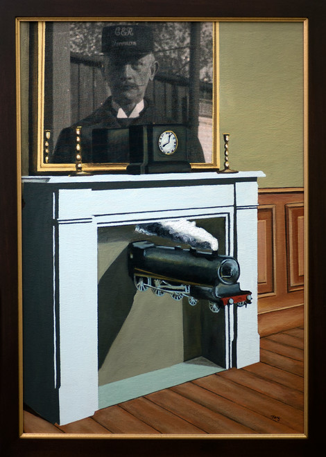 Edward Transfixed 1 (after Magritte) 2015