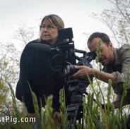 Director Allison Argo and Cinematographer Joseph Brunette on location