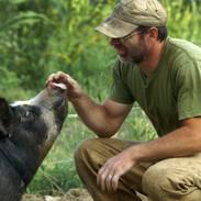 THE LAST PIG - Farmer Bob Comis with Pig