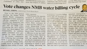 We Did It! NMB Water Returning to Quarterly Billing Schedule
