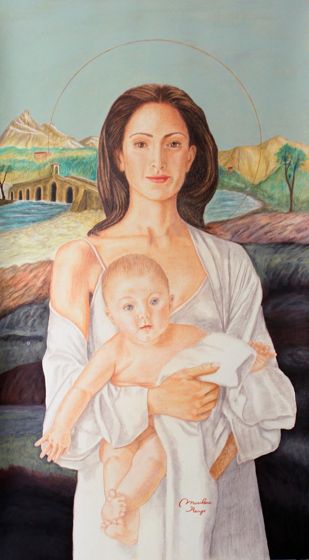 Guarda il figlio che ho tra le braccia è Gesù, il figlio di Dio, il Salvatore -