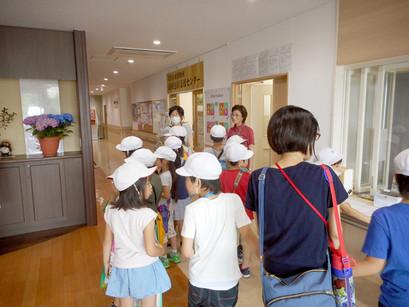 小学生が施設見学にきました