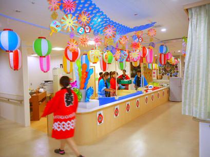 毎年恒例、納涼祭の飾り付けスナップ