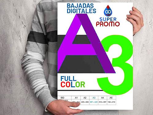 11 a 50 Bajadas A3   Papel + Impresión