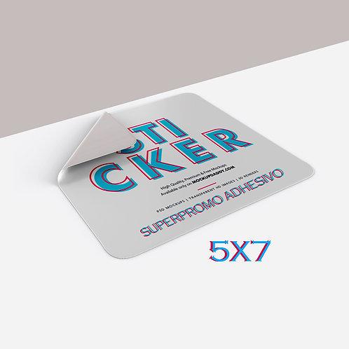 Sticker 5x7, Laca UV 90 gramos