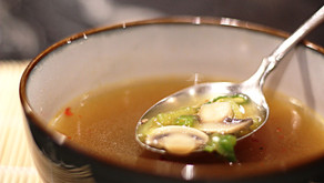 Japanese Mushroom Soup with Green Onions