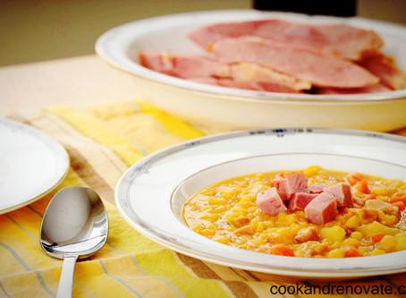 Leftover Ham Bone & Split Pea Soup