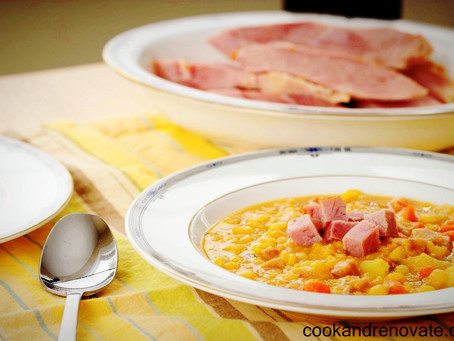 Leftover Ham Bone & Split Pea Soup