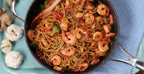 Shrimp and Broccoli Lo Mein:  Healthy and Delicious