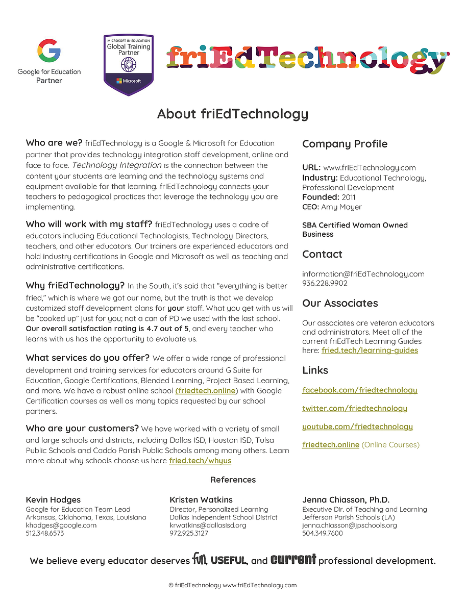 friEdTechnology One Pager _ Whitepaper (