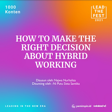 How to Make The Right Decision About Hybrid Working