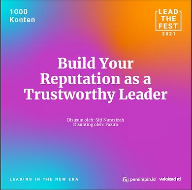 Build Your Reputation as a Trustworthy Leader