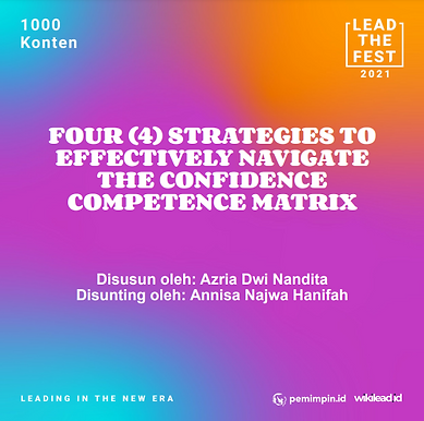 4 Strategies To Effectively Navigate The Confidence Competence Matrix