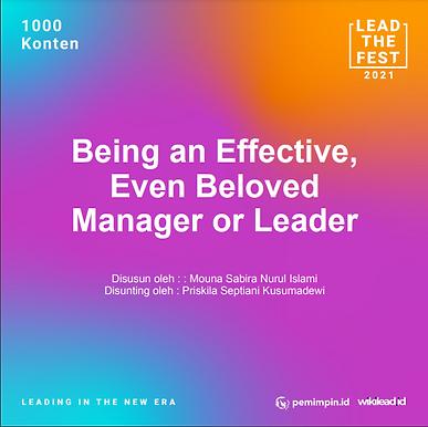 Being an Effective, Even Beloved Manager or Leader